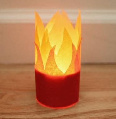 Pentecost votive candle